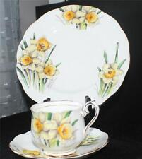 Vtg ROYAL ALBERT England Flower of Month Series DAFFODIL Trio Cup Saucer&Plate#3