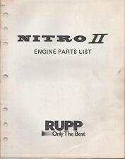 RUPP NITRO II ENGINE  P/N 36646 PARTS LIST MANUAL (554)
