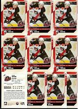 TYLER ENNIS 10/11 ITG H&P RC Rookie Lot of (10) #115 Buffalo Sabres Draft