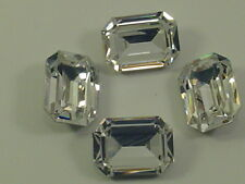 4pcs.18X13mm  CRYSTAL OCTAGON FOILED POINTED BACK swarovski