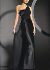 BLACK BRIDESMAIDS/EVENING/WEDDING/PROM/PARTY DRESS BALL GOWN