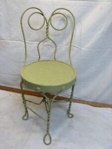 Vintage Child Twisted Wire Back Leg Ice Cream Parlor Chair Retro Doll Teddy Bear