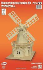 Molino de viento Woodcraft Construcción Kit-nuevo Rompecabezas De Madera 3D Modelo Kit