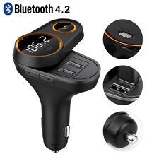 KFZ Bluetooth FM Transmitter Bluetooth 4.2 Auto Radio MP3 Player 2 USB Adapter