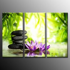 FRAMED Wall Art Stone Picture Giclee Print On Canvas Art For Room Decor-3pcs