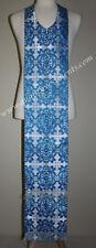 "Blue Stole for travel or Communion Sick Call  Epitrakhilion 48"" 123 cm mid seam"