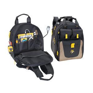 CLC ECPL38 - 36 Pocket Lighted USB Battery Charging Tool Backpack Bag Carrier