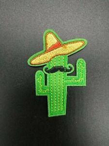 parche cactus mexicano funny patch handbag bag clothes pegar desierto bigote
