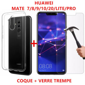 Anti-Scratch Coque Huawei Mate 20/Lite/Mate10/9/8/7 aux choix+ Film Verre trempé
