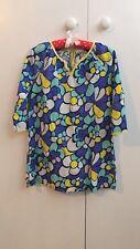 Boden floral summer dress.flowers print.beach.kaftan.Yellow blue green 11-12