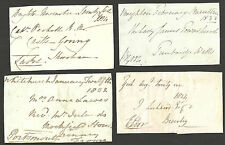 SELECTION/LOT 8 FREE FRONTS WITHOUT POSTMARKS 1824-1834 VARIOUS SIGNATURES L1