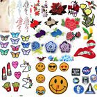 Embroidered Sew Iron On Patches Badge Flower Garment Bag Clothes Applique Craft