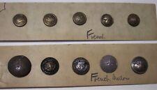 Ww1 France 10 military uniform iron brass buttons Usa