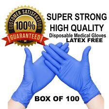 100X Disposable Nitrile Gloves Medical Hand Protection Gloves Nitrile S/M/L