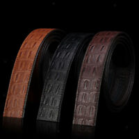 Fashion PU Leather Replacement Belt for Mens Ratchet Belts Strap No Buckle