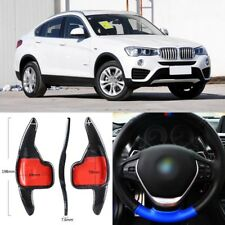 Carbon Fiber Gear DSG Steering Wheel Paddle Shifter Cover Fit For BMW X4 2013-17