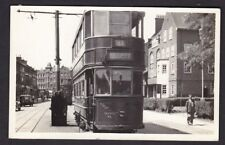 LONDON Tram #337 route 46 Goodbye to the Old Kent Rd graffiti c1950s? RP PPC