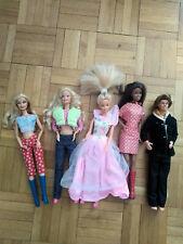 Lot de 4 Barbie et un Ken : Vintage (MATTEL)