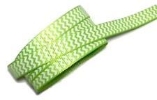 "5 yards Lime green chevron zig zag printed 3/8"" grosgrain ribbon by the yard DIY"