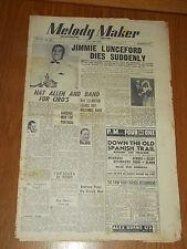 MELODY MAKER 1947 #728 JUL 19 JAZZ SWING JIMMIE LUNCEFORD NAT ALLEN REG DARE