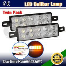 PAIR DRL LED FRONT INDICATOR LIGHT OFFROAD BULLBAR LAMP LED PARK LIGHT 12V/24V
