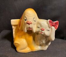 New listing Vintage Dogs & Basket Planter Made In Usa #611 (Great Condition) Nice for Spring