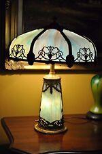 Arts&Crafts,Nouveau,Miller,Handel Era Lighthouse,Stained,Leaded Slag Glass Lamp