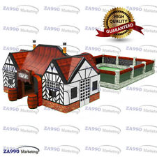 30x70ft Inflatable Irish Pub Tent and Beer Garden Fence With 2 x Air Blower