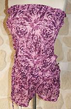 Combi-short ton léopard violet neuf taille S marque TOTSOL (b)