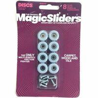 """Magic Sliders 08200 8 Pack 3/4"""" Round Furniture Slide Disk Caster"""