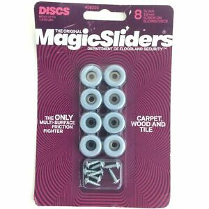 "Magic Sliders 08200 8 Pack 3/4"" Round Furniture Slide Disk Caster"