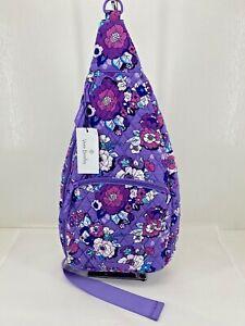 Vera Bradley Essential Sling Backpack Enchanted Garden Purple NWT