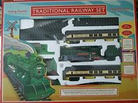 Traditional Railway Train Set With Lights Sound 5.72 m Of Track 2 Switch Points