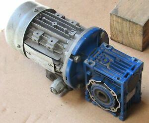 MOTOVARIO GEAR REDUCER NMRV 040 RATIO 15:1 W/ DR DRIVERS MOTOR 63B-4