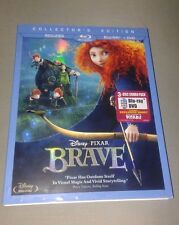 Disney's BRAVE NEW BLU RAY + DVD 3 Disc Set Collector's Edition with Slipcover