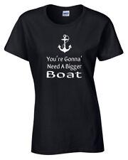 Jaws Camiseta Mujer s-2xl Divertido Película You're Gonna Need A BIGGER Barco