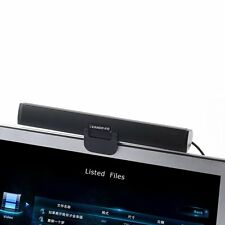Portable Speaker Clip-On USB Powered Stereo Speaker Sound bar Notebook TV Laptop