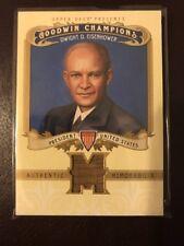 2012 Goodwin Champions Dwight Eisenhower White House Relic Memorabilia SSP Rare!