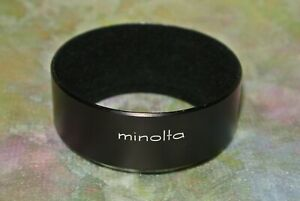 Genuine Minolta D52ND 55mm Screw in Metal Lens Hood Rokkor PF 55mm 1.7
