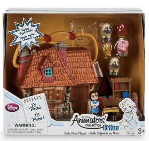 Disney Store Belle Animators Collection Littles House Playset Beauty & the Beast