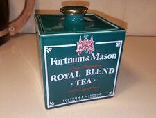 Vtg Forest Green Fortnum Mason Caverswall Bone China Tea Caddy London England