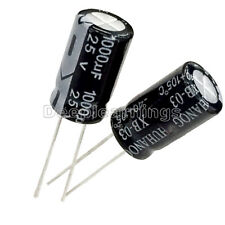 50PCS New 1000uF 25V 10mm*20mm Radial Electrolytic Capacitors