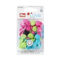 Prym Love Colour Snaps Colorsnaps Press Fasteners Poppers Lots of choice/shapes