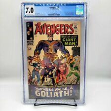 AVENGERS #28 CGC 7.0 🔥 1st App THE COLLECTOR (Marvel May 1966) GOLIATH, WHAT IF