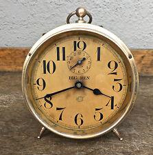 Antique (1914) Westclox Big Ben Peg Leg Alarm Clock Complete & Working