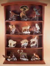 Franklin Mint Alaskan Wildlife Conservation Trust Frontier 12 Figurines w/Shelf