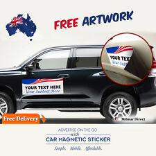 Twin Pack PERSONALIZED Advertise Magnetic Car Sticker AU Seller