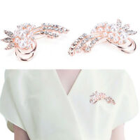 Mode Vintage Brosche Strass Nachahmung Perle Flower.Wedding ZubehörYR