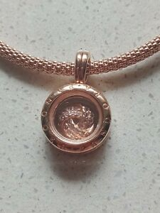 Rare! Pandora floating locket rose gold with charm
