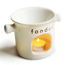 Lovers`s Ceramic Chocolate Fondue Set Fondue Dipper Cheese Hot Pot CUP Meltin